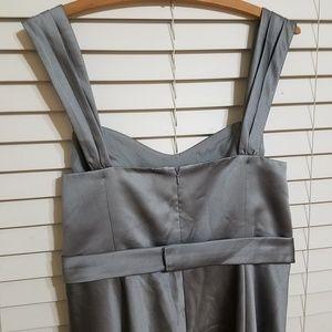 David's Bridal Dresses - David's bridal satin wide strapped dress